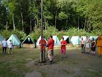 Označení tábořiště.