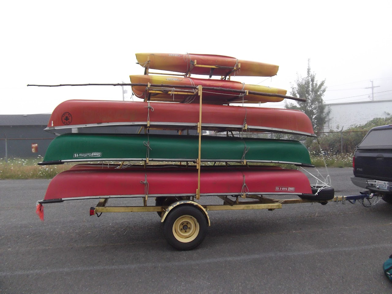 Canoes ready to go