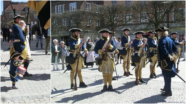 170506 Återinvigning Västerlånggatan, Karolinermarsch2