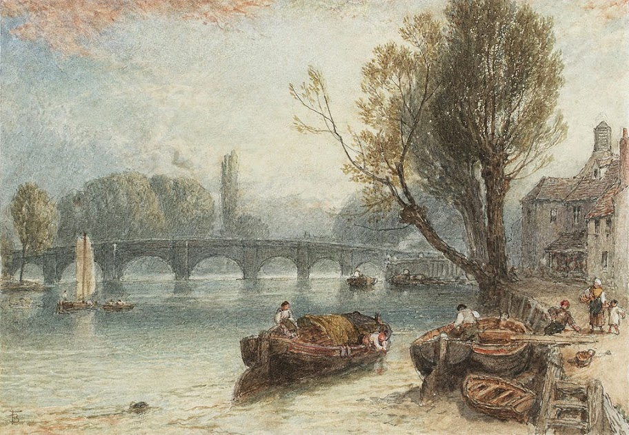 Myles Birket Foster - Kew Bridge from Strand on the Green