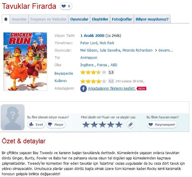 Tavuklar Firarda - 2000 BRRip XviD AC3 - Türkçe Dublaj Tek Link indir