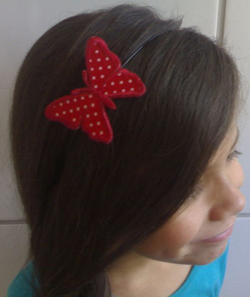 Inspiração borboletas - tiara de cabelo