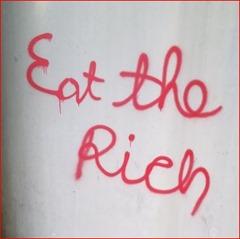 Provided_Eat The Rich Graffiti