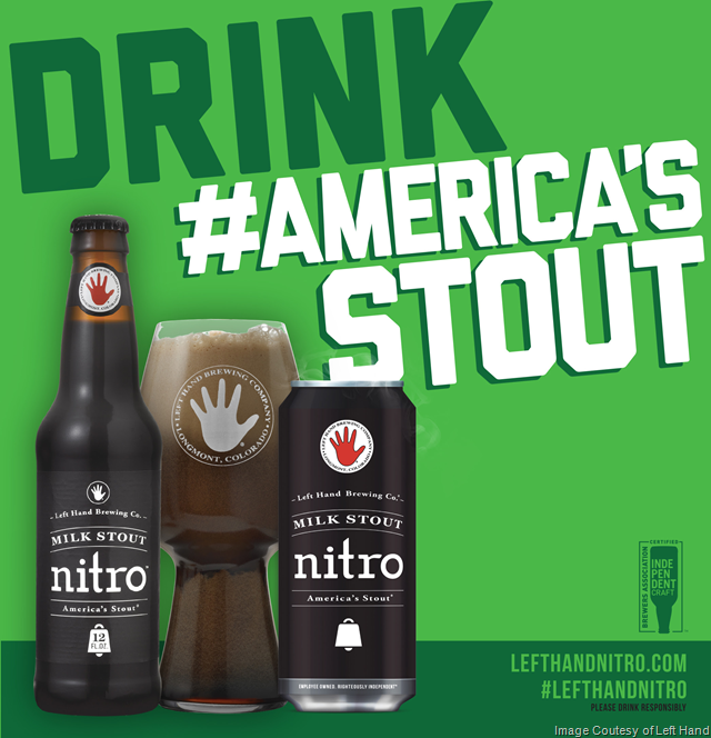 This St. Patrick's Day, Drink America's Stout - Left Hand Milk Stout Nitro