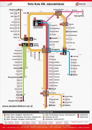 Peta Rute KRL Commuter Line Jabodetabek 1 April 2015