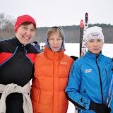 Участницы и победительницы лыжных гонок