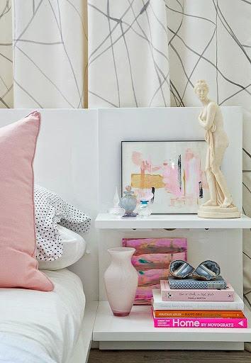 Decoração com detalhes rosa