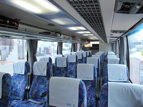 道北バス「特急オホーツク号」 1006 車内