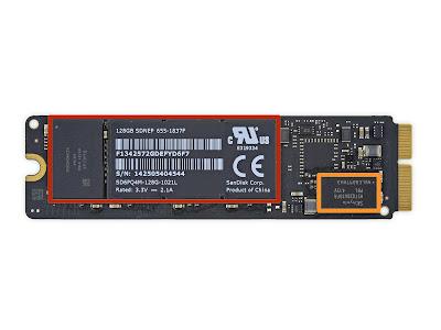 新型iMac 5K RetinaのPCIe SSDモジュール