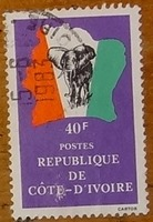 timbre Côte d'Ivoire 006