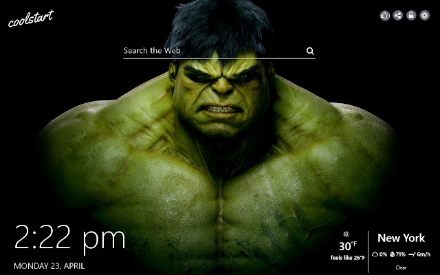 Hulk HD Wallpapers  Marvel New Tab Theme
