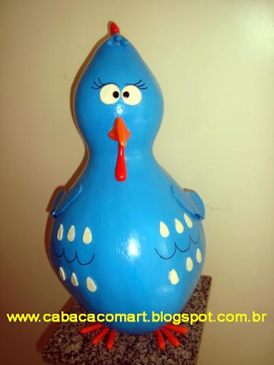 galinha pintadinha de artesanato em cabaça