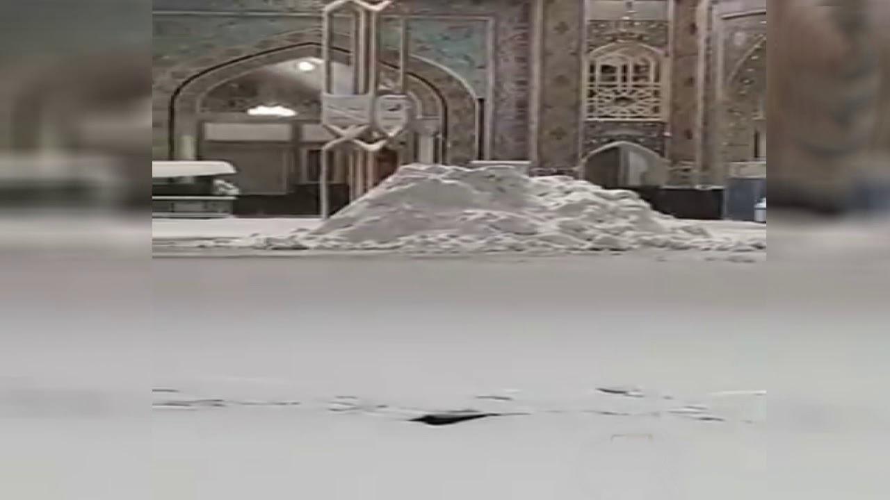 شاهد حقيقة مقطع تساقط الثلوج في ساحات الحرم المكي
