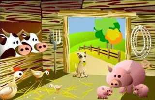 El granjero y sus perros