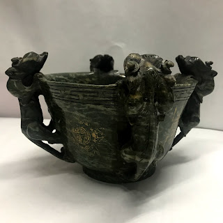 Asian Carved Marble Bowl