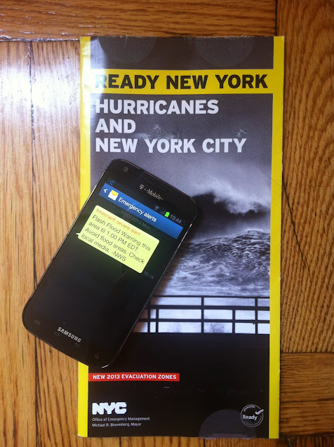 Severe weather pamphlet and SMS alert