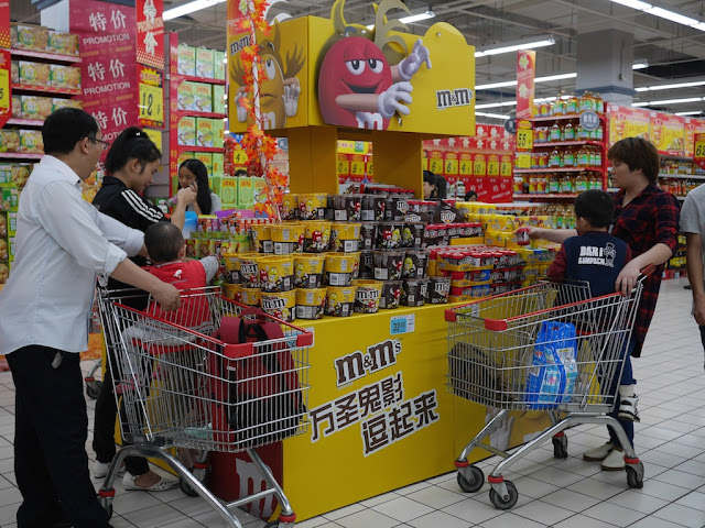 Halloween M&M's display at the RT-Mart in Shaoguan