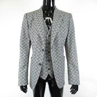 Dolce & Gabbana NEW Cat Print Blaze & Vest Sz 50