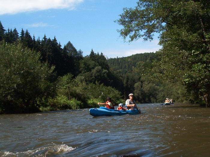 Kanoën op de rivier de Ohre