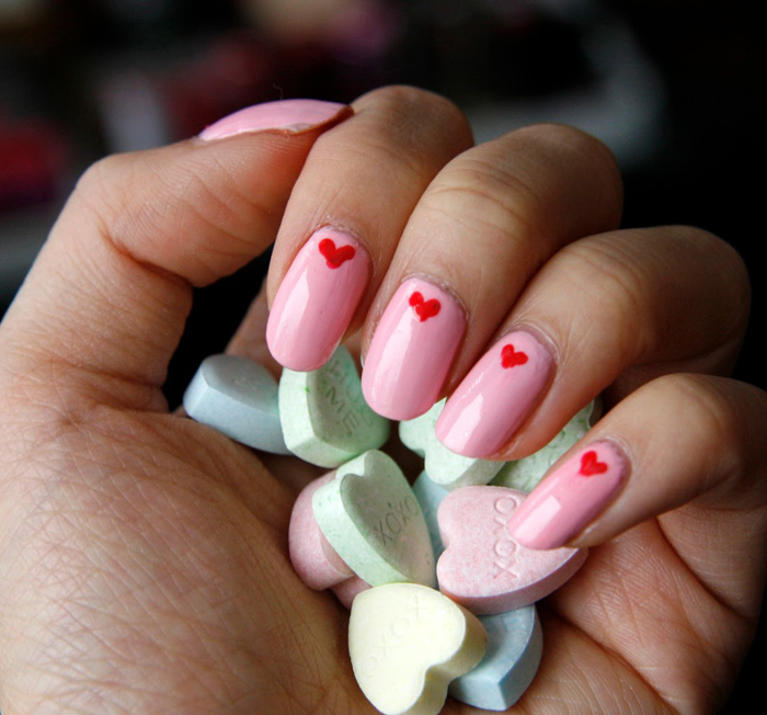 Cute Valentines Day Nails Designs 2017