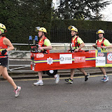 OIC - ENTSIMAGES.COM - London Fire Brigade Runners  at the Virgin Money London Marathon on Blackheath in London, England. 24th April 2016 Photo Mobis Photos/OIC 0203 174 1069