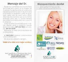Photo: Material informativo sobre el blanqueamiento dental.