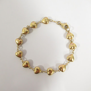14K Gold Heart Milor Bracelet