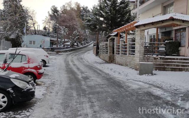 Κακοκαιρία Λέανδρος: Χιόνια και κρύο στη Βόρεια Ελλάδα, -13 στη Φλώρινα