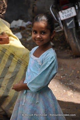 Petite fille, Delhi