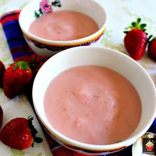 Homemade Strawberry Pudding.