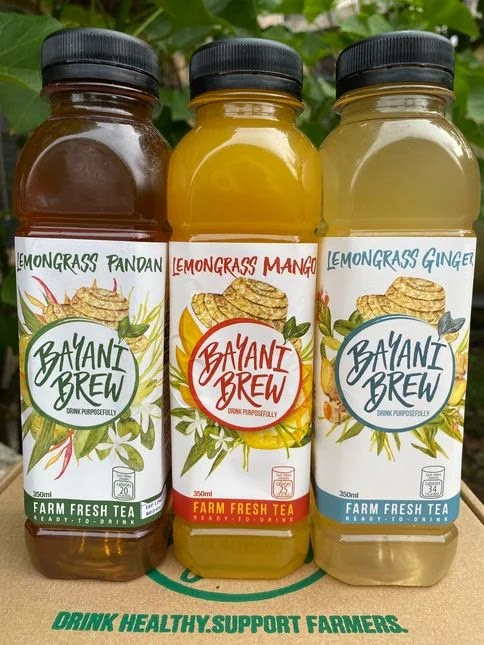 Bottles of Bayani Brew products