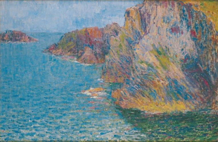 John Peter Russell - La Pointe de Morestil par mer calme, 1901