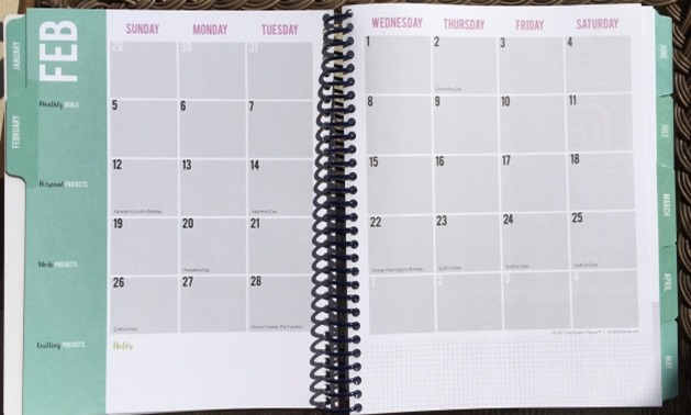 Quilter's Planner 2017 (2)