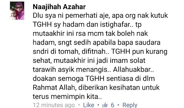 Luahan Hati Anak Saudara TG Haji Hadi