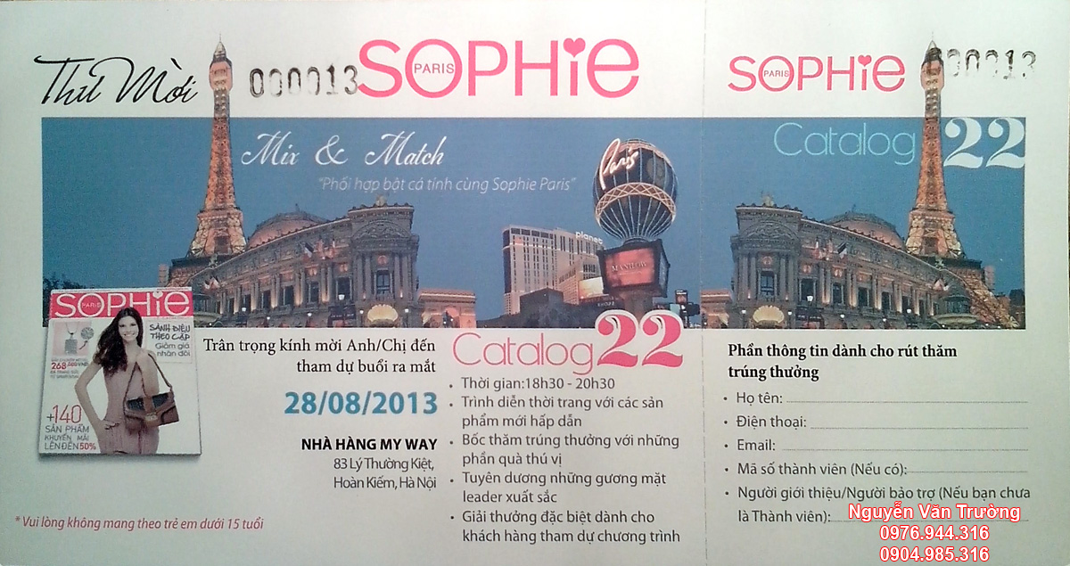 Sophie Paris ra mắt Catalog 22