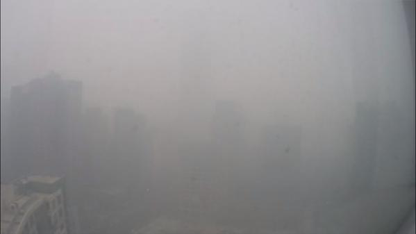 photo of a smoggy Beijing