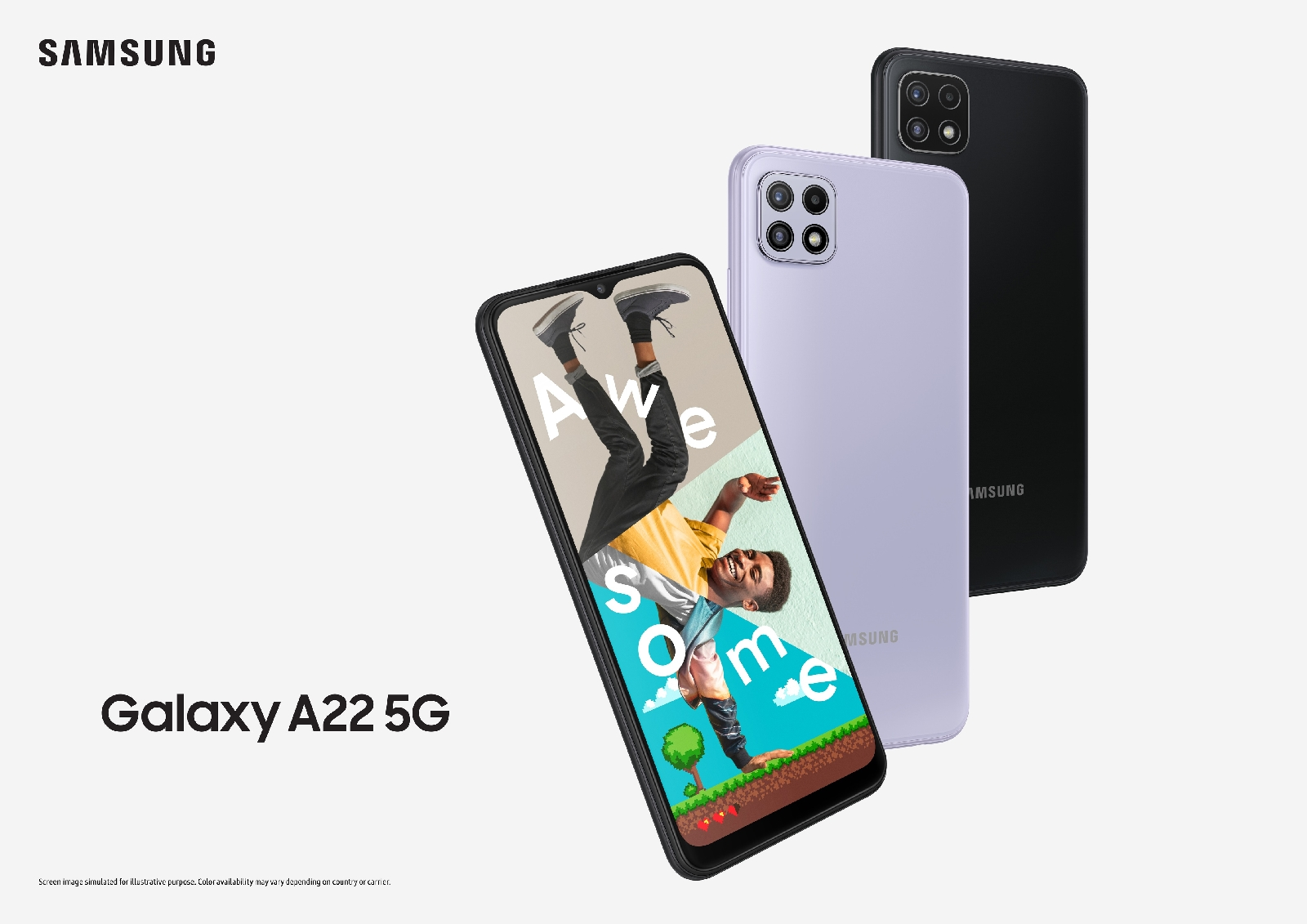 SAMSUNG เปิดตัว Galaxy A22 5G สุดยอดสมาร์ทโฟน 5G เร็วเต็มสปีดรุ่นใหม่ล่าสุดในราคาเริ่มต้นเพียง 1,289 บาท! ที่ร้านค้าในเครือ AIS เท่านั้น