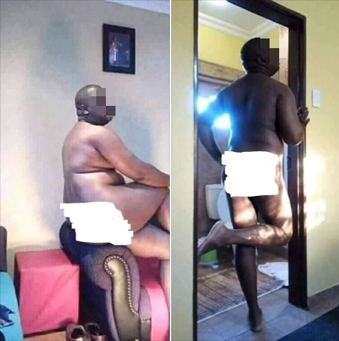Nigerians have taken to social media to mock a man whose unclad pictures went viral