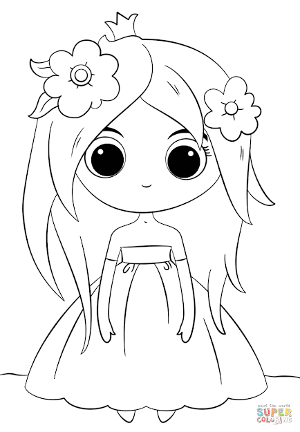 Click The Cute Chibi Princess Coloring Pages To View Printable Version Or  Color It Online Patible With Ipad And Android Tablets