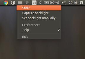 Ajustar automáticamente la iluminación de la pantalla - menu