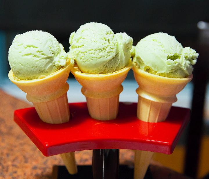 photo of three ice cream cones