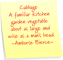 Cabbage | Ambrose Bierce