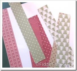 paper scraps patchwork card