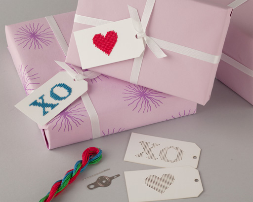 Choose your own colors to embroider these gift tags. http://amhdesignonline.com/Merchant5/merchant.mvc?Screen=PROD&Store_Code=ADL&Product_Code=Heart-tag-white&Category_Code=GIFT_subcategory