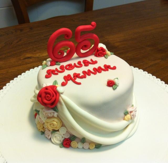 Favorito Lo Zuccherino Magico: Ribbon rose e drappi per il compleanno della  QC24
