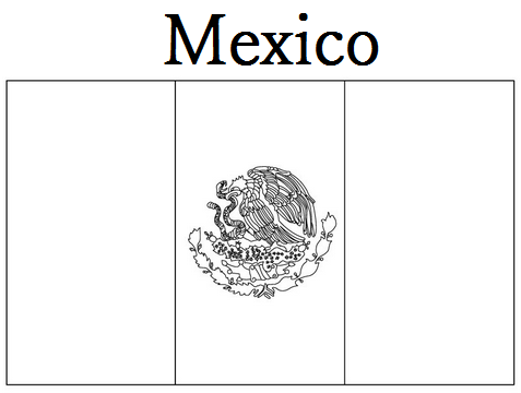 Geography Blog Mexico Flag Coloring Page