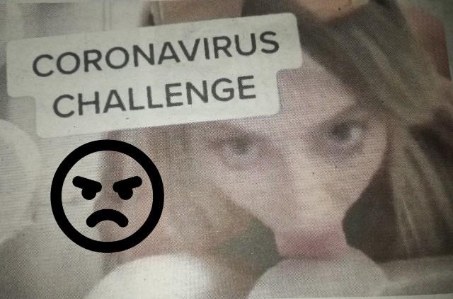 Sanggup jilat mangkuk tandas demi popular, siap hashtag coronavirus challenge. Memang buat kerja gila.