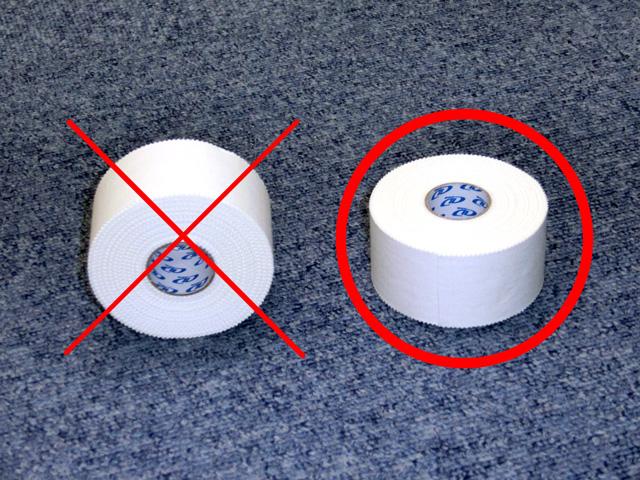 アスレティックテープの置き方