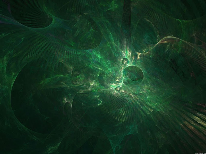 Green Witch Abstract Design, Green Witches