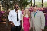 Celebrity Guest Emanuel Gibson, 2014 Azalea Queen Kirsten Haglund, President Steve Coble
